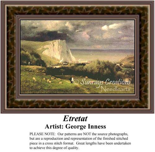 Etretat, Fine Art Counted Cross Stitch Pattern, Alluring Landscapes Counted Cross Stitch Pattern