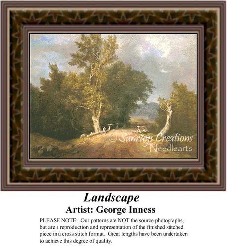 Landscape, Fine Art Counted Cross Stitch Pattern, Alluring Landscapes Counted Cross Stitch Pattern