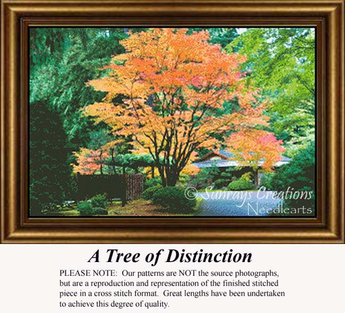 A Tree of Distinction, Trees Counted Cross Stitch Pattern