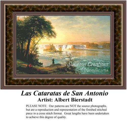 Las Cataratas de San Antonio, Fine Art Counted Cross Stitch Pattern, Waterscapes Cross Stitch Patterns