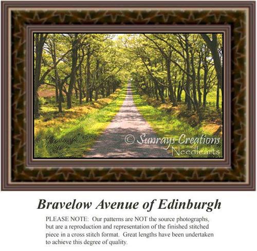 Bravelow Avenue of Edinburgh, Alluring Landscapes Counted Cross Stitch Pattern