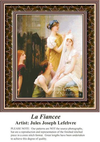 La Fiancee, Fine Art Counted Cross Stitch Pattern, Women Counted Cross Stitch Pattern