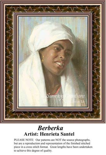 Berberka, Fine Art Counted Cross Stitch Pattern, Women Counted Cross Stitch Pattern