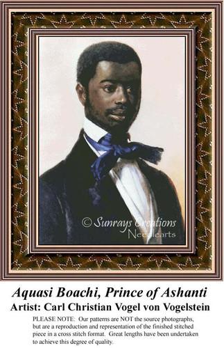 Aquasi Boachi, Prince of Ashanti, Men Counted Cross Stitch Pattern, Fine Art Counted Cross Stitch Pattern