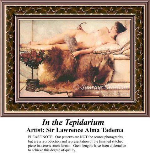 In the Terpidarium, Fine Art Counted Cross Stitch Pattern, Women Counted Cross Stitch Pattern