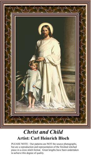 Christ and Child, Fine Art Counted Cross Stitch Pattern