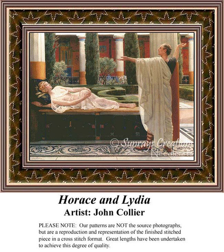 Horace and Lydia, Fine Art Counted Cross Stitch Pattern