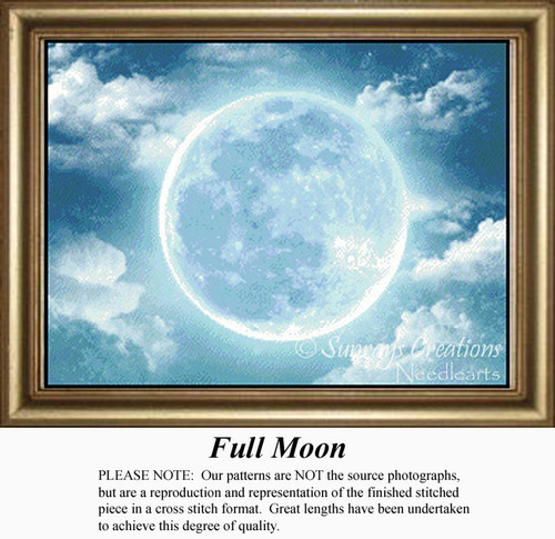 Full Moon, Skyscapes Counted Cross Stitch Pattern