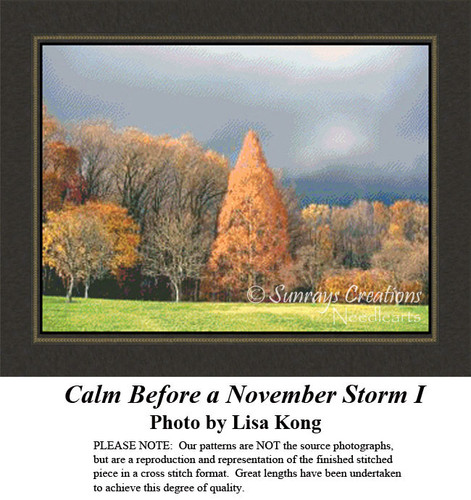 Calm Before a November Storm I, Alluring Landscapes Counted Cross Stitch Pattern