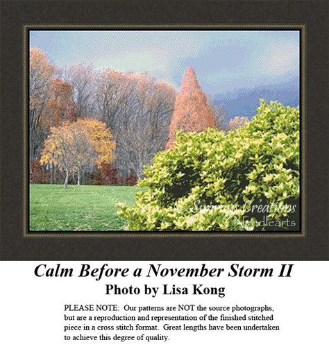 Calm Before a November Storm II, Alluring Landscapes Counted Cross Stitch Pattern