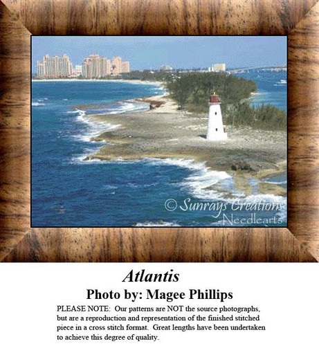 Atlantis, Lighthouse Counted Cross Stitch Pattern