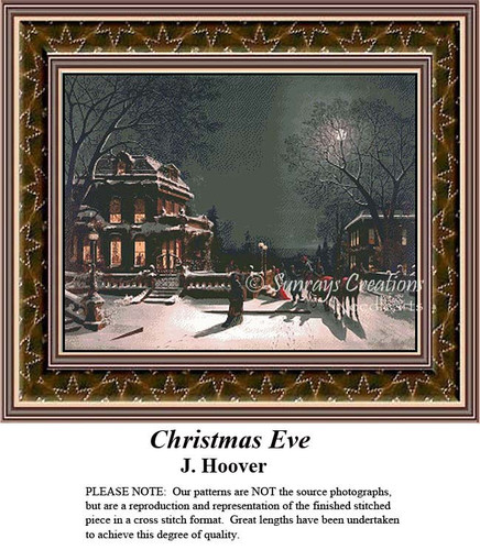 Christmas Eve, Fine Art Counted Cross Stitch Pattern