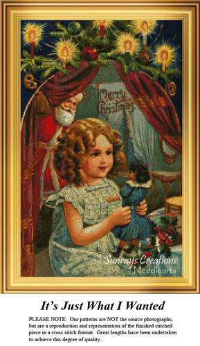 It's, Just What I Wanted, Christmas Counted Cross Stitch Pattern