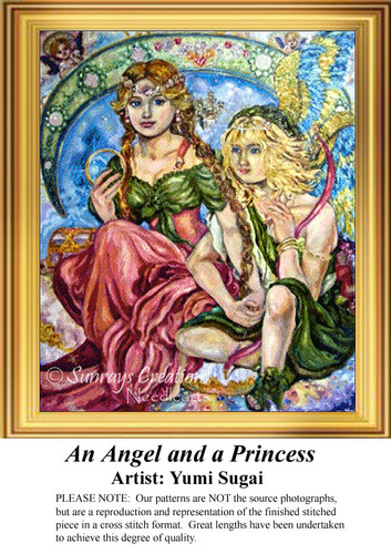 An Angel and a Princess, Angel Cross Stitch Pattern
