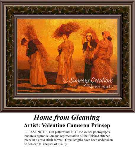 Home From Gleaning, Fine Art Counted Cross Stitch Pattern, Women Counted Cross Stitch Pattern