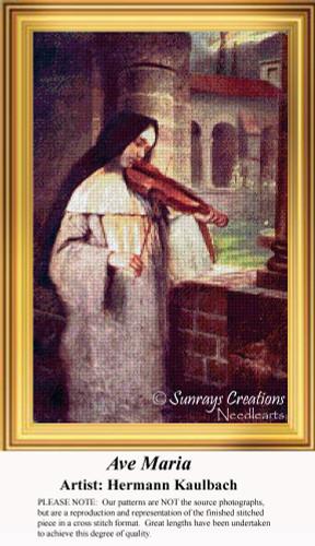 Ave Maria, Vintage Cross Stitch Pattern