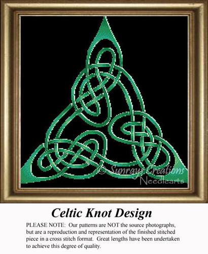 Celtic Knot Design, Irish Counted Cross Stitch Pattern