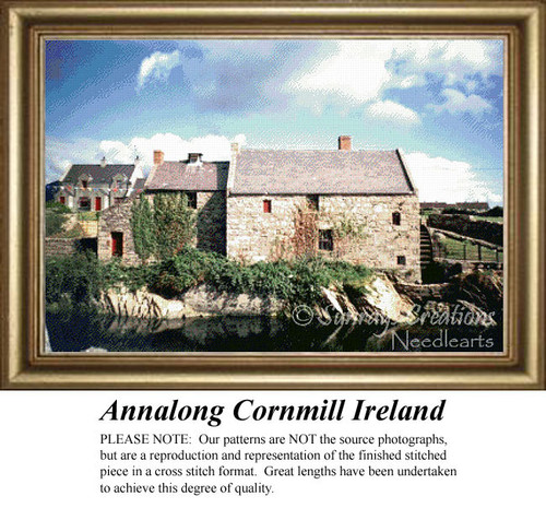 Annalong Cornmill, Ireland, Irish Counted Cross Stitch Pattern