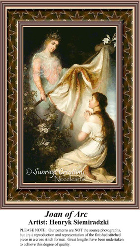 Joan of Arc, Fine Art Counted Cross Stitch Patterns