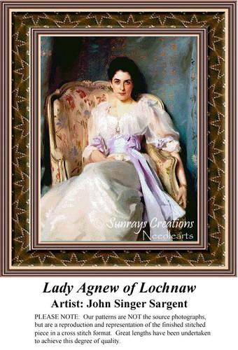 Lady Agnew of Lochnaw, Fine Art Counted Cross Stitch Pattern