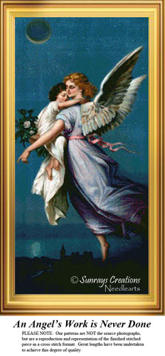 An Angel's Work is Never Done, Cross Stitch Pattern