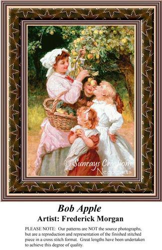 Bob Apple, Fine Art Counted Cross Stitch Pattern, Family Counted Cross Stitch Pattern