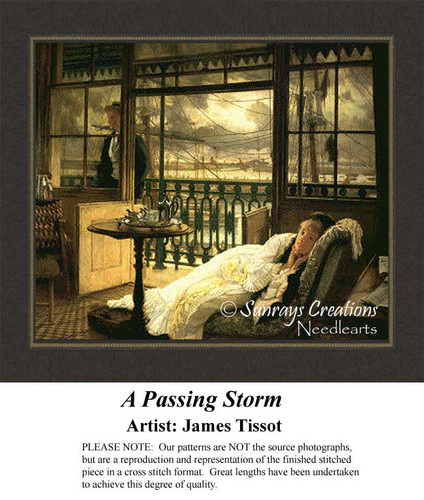 A Passing Storm, Fine Art Counted Cross Stitch Pattern