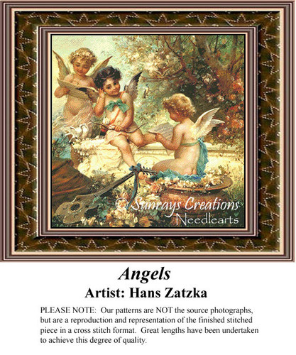 Angels, Fine Art Counted Cross Stitch Pattern