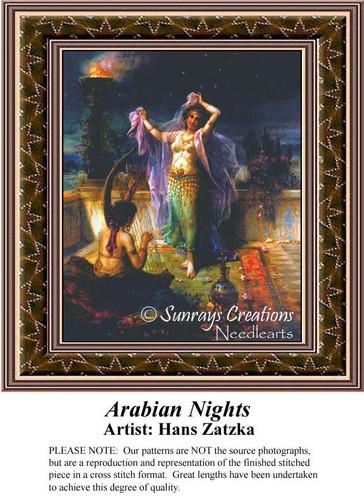 Arabian Nights, Hans Zatzka Counted Cross Stitch Pattern