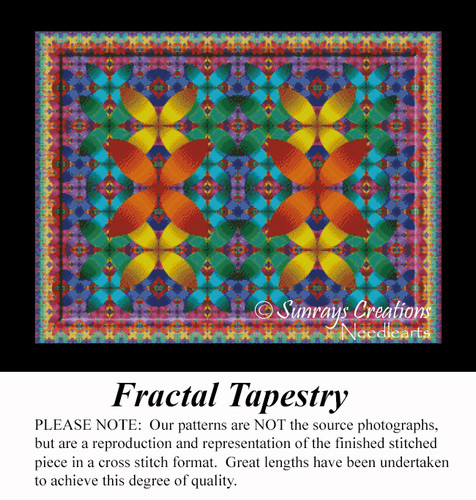 Fractal Tapestry, Fractal Counted Cross Stitch Pattern