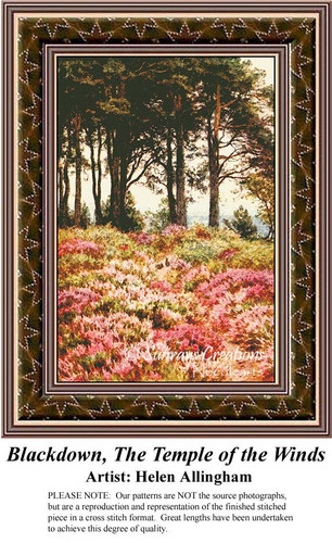 Blackdown, The Temple of the Winds, Fine Art Cross Stitch Pattern