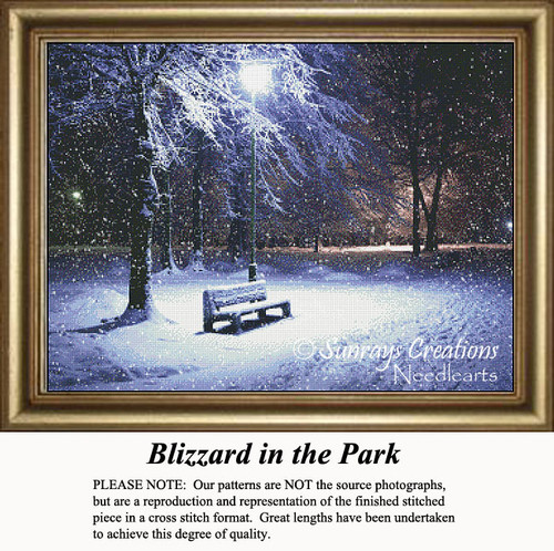 Blizzrd in the Park, Counted Cross Stitch Pattern