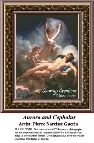 Aurora and Cephalus, Fine Art Counted Cross Stitch Pattern