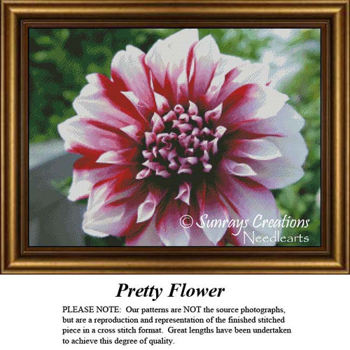 Free Flower Cross Stitch Pattern | Pretty Flower