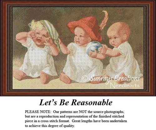 Let's be Reasonable, Cross Stitch Pattern