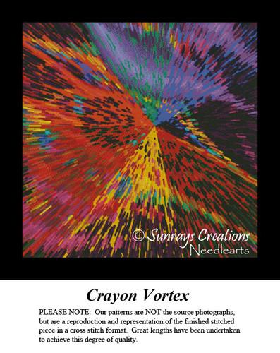 Fractal Cross Stitch Pattern | Crayon Vortex