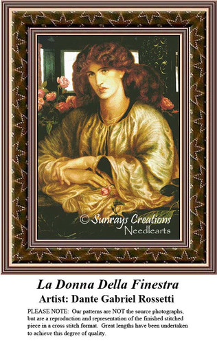 La Donna Della Finestra, Cross Stitch Pattern, Women Counted Cross Stitch Pattern