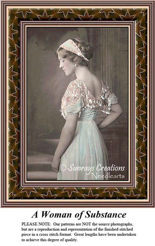 Sepia Cross Stitch Patterns | A Woman of Substance