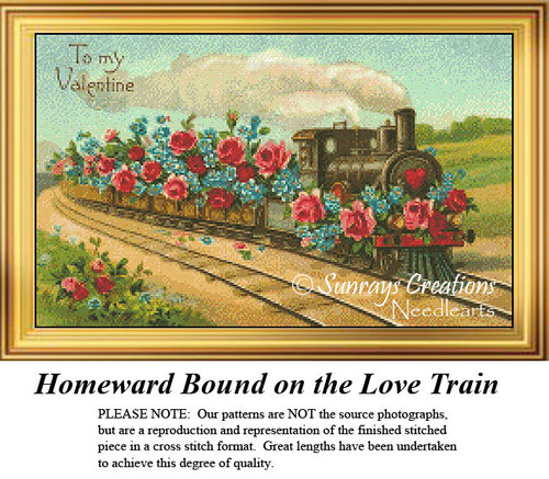 Vintage Cross Stitch Pattern | Homeward Bound on the Love Train