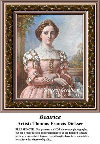 Fine Art Cross Stitch Patterns | Beatrice