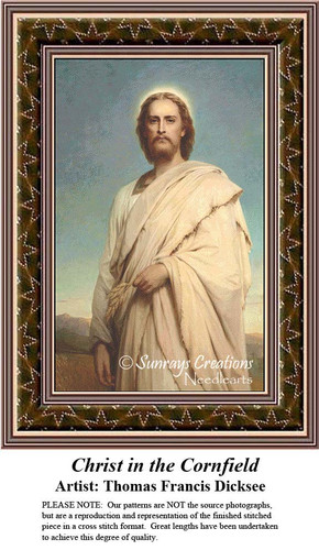 Religious Cross Stitch Patterns | Christ in the Cornfield