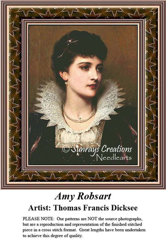 Fine Art Cross Stitch Pattern | Amy Robsart