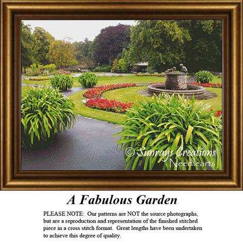 Alluring Landscapes Cross Stitch Patterns | A Fabulous Garden