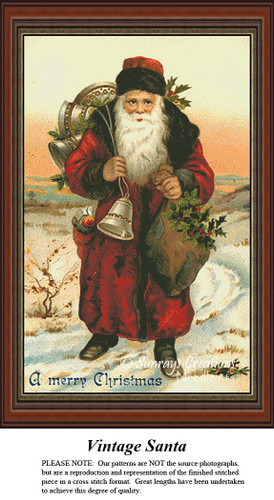 Christmas Cross Stitch Patterns | Vintage Santa