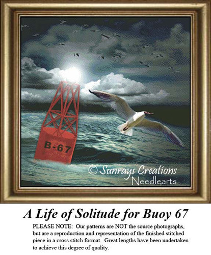 Alluring Landscapes Cross Stitch Patterns | A Life of Solitude for Buoy 67
