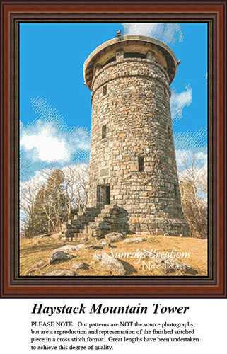 New England States Cross Stitch Patterns   Haystack Mountain Tower