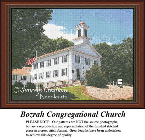 New England States Cross Stitch Patterns | Bozrah Congregational Church