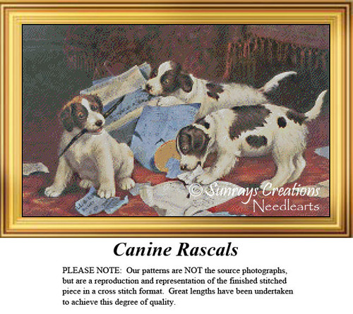 Vintage Cross Stitch Pattern | Canine Rascals
