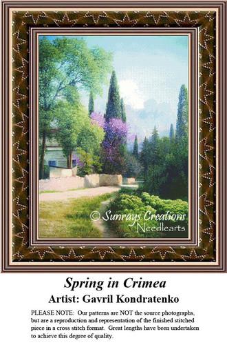 Fine Art Counted Cross Stitch Patterns   Spring in Crimea