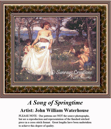 Fine Art Counted Cross Stitch | A Song of Springtime